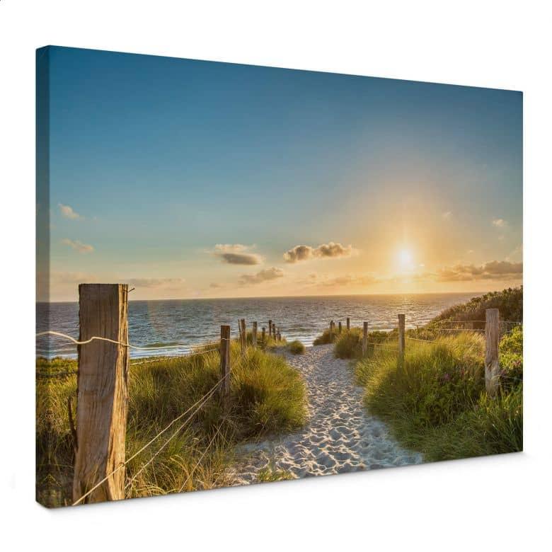 Canvas Zonsondergang