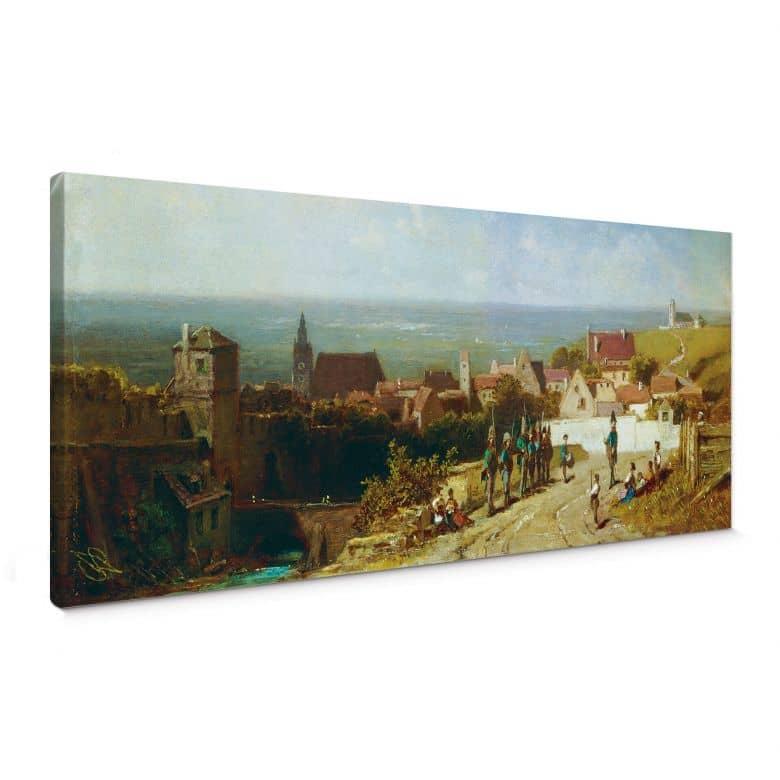 Tableau sur toile Spitzweg -Vieille ville