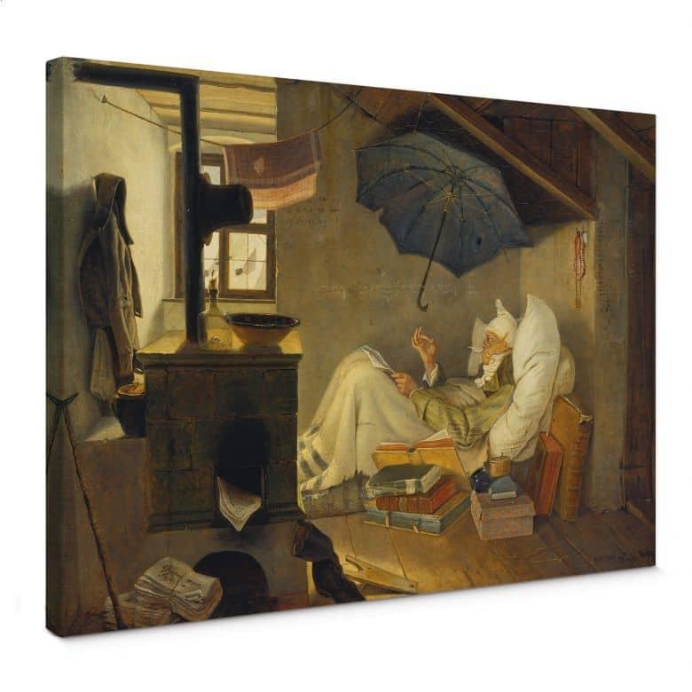 Tableau sur toile Spitzweg - Le pauvre poète
