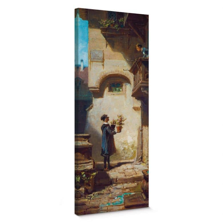 Tableau sur toile Spitzweg - L'admirateur - Panorama