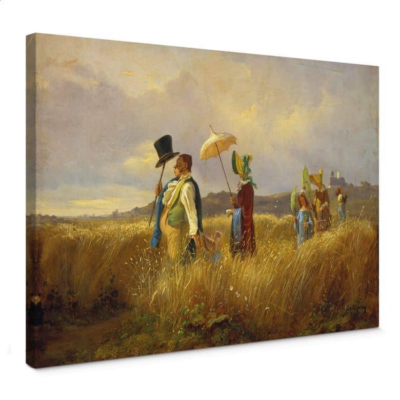 Tableau sur toile Spitzweg - La promenade du dimanche