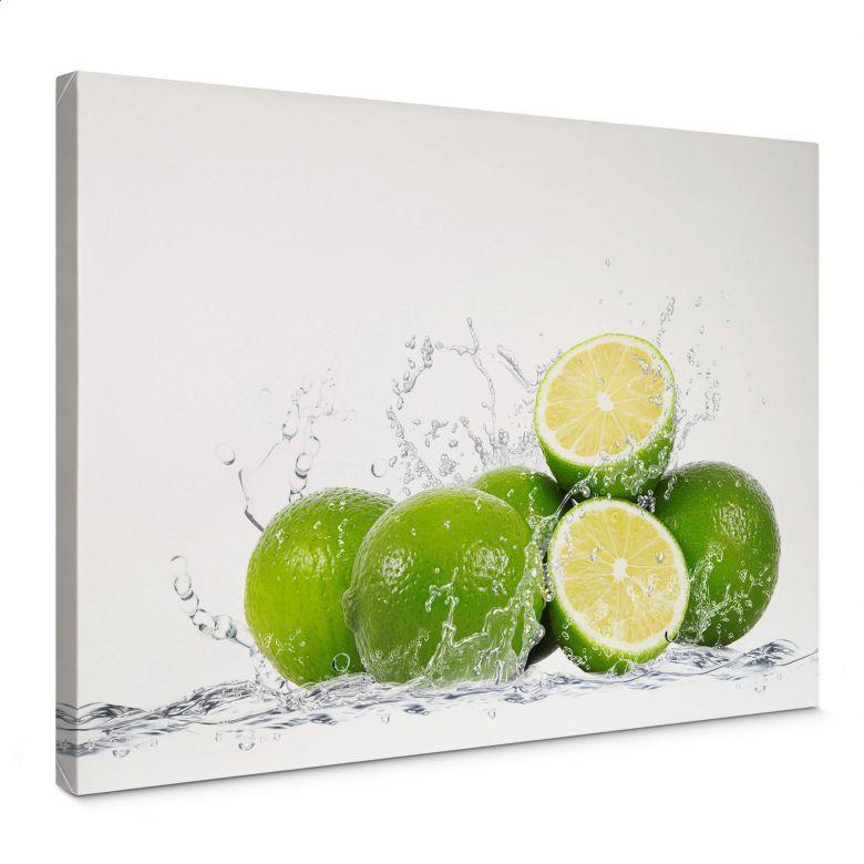 Leinwand Splashing Limes