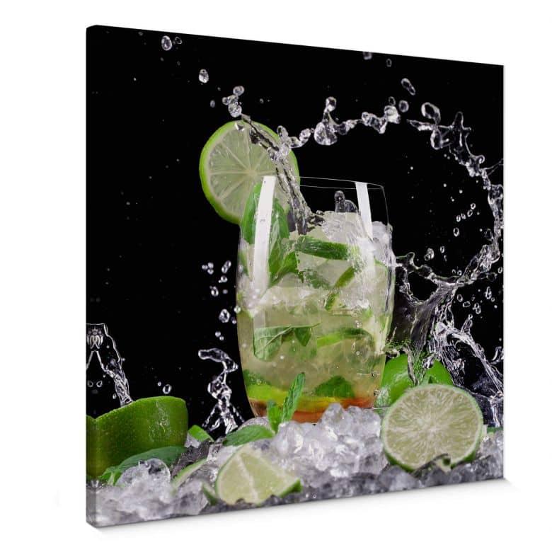 Splashing Mojito - Square Canvas print