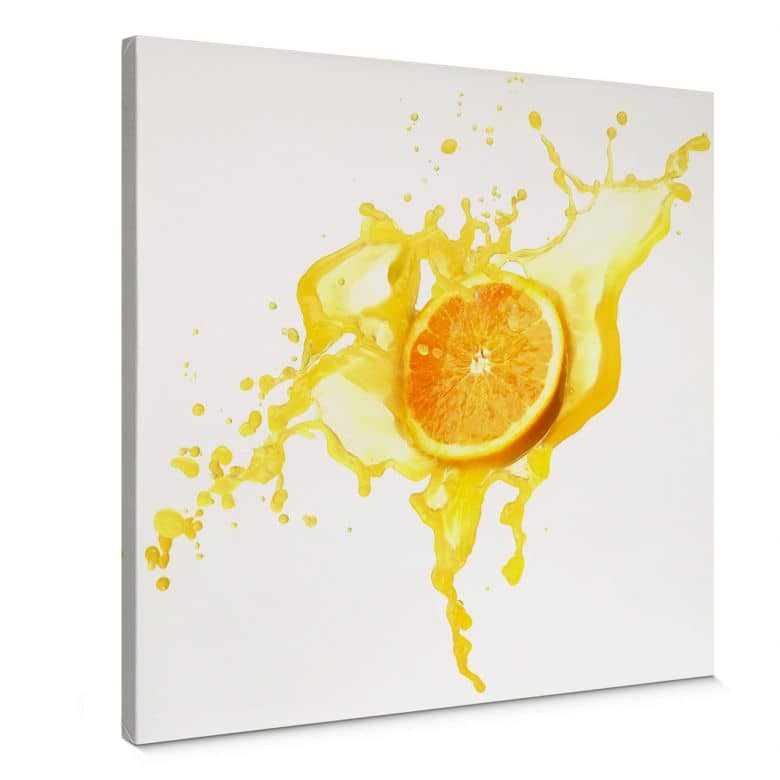 Splashing Oranges - Square Canvas print