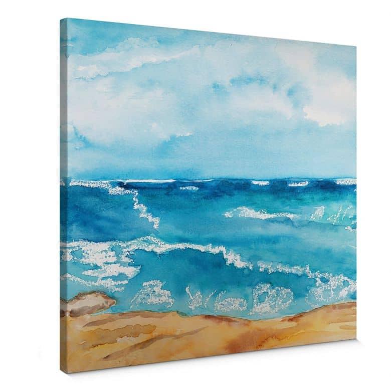 Tableau sur toile Toetzke - Bruit de la mer - carré