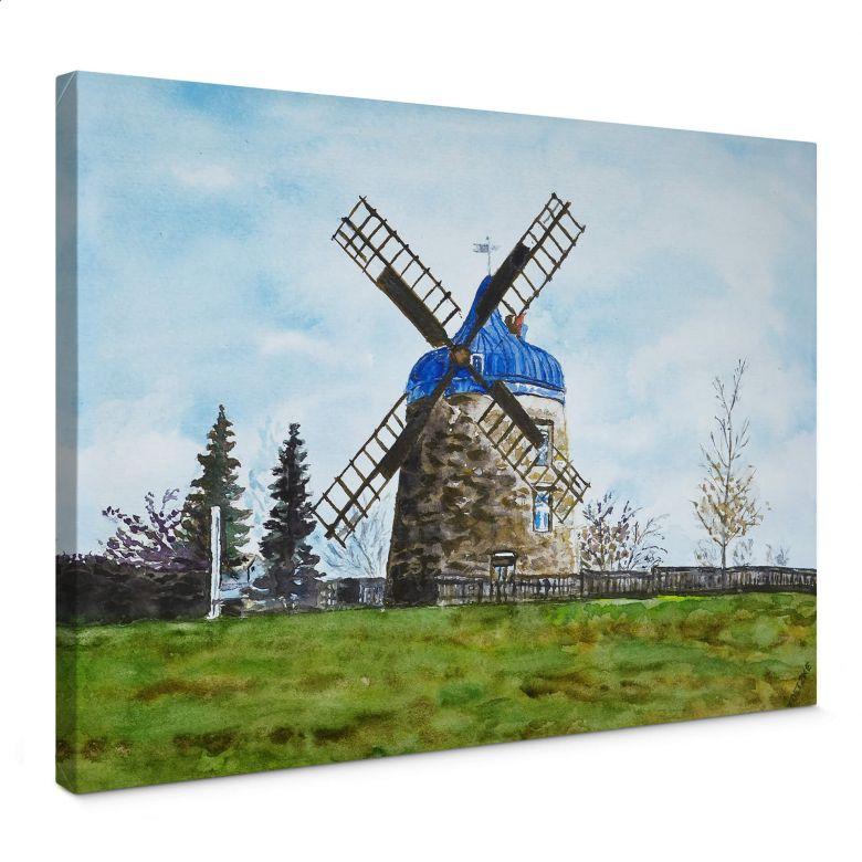 Leinwandbild Toetzke - Traditionelle Windmühle