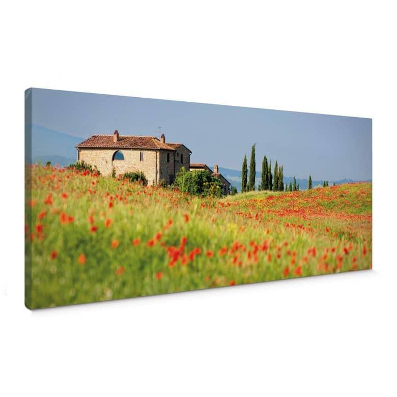 Tuscany Canvas print panorama