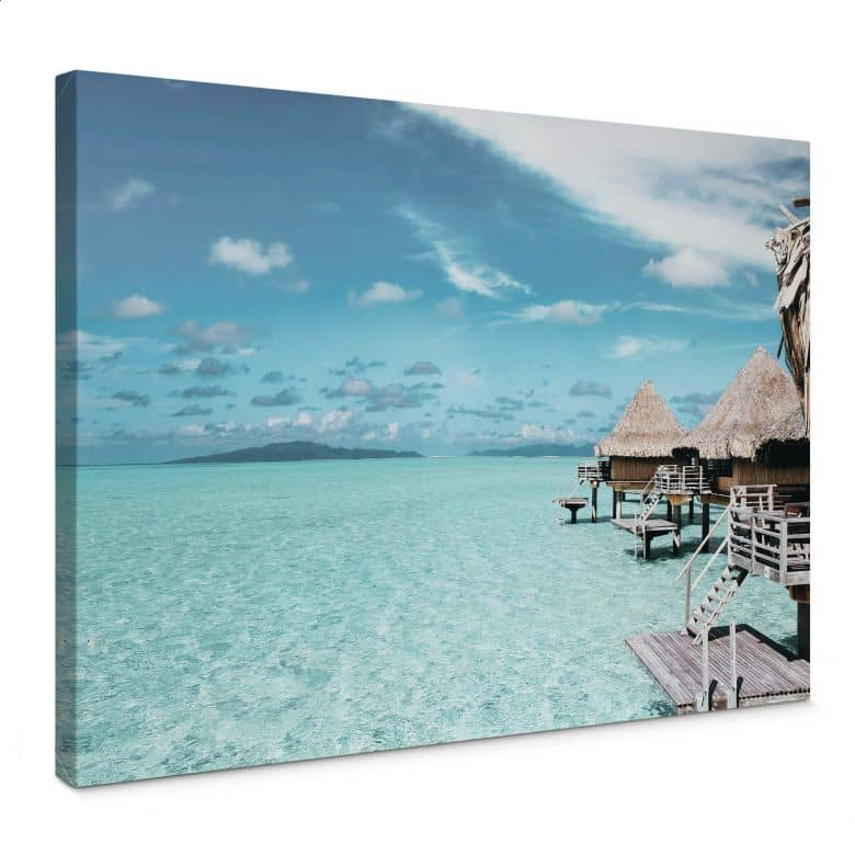 Leinwandbild Urlaub auf den Malediven