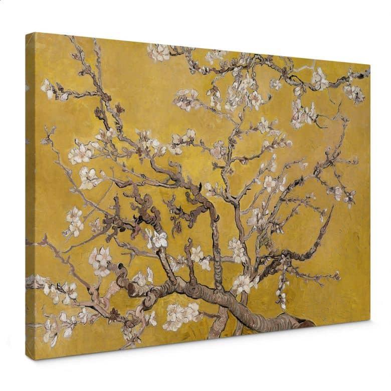 Canvas van Gogh - Amandelbloesem in oker