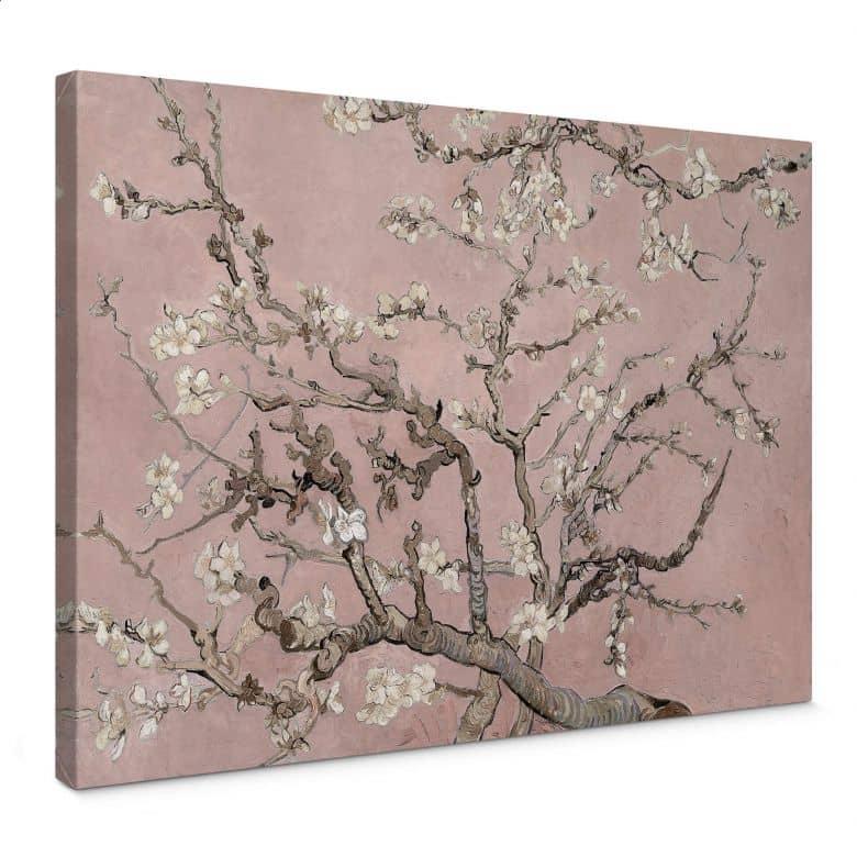 Tableau sur toile van Gogh - Amandier en fleurs rose