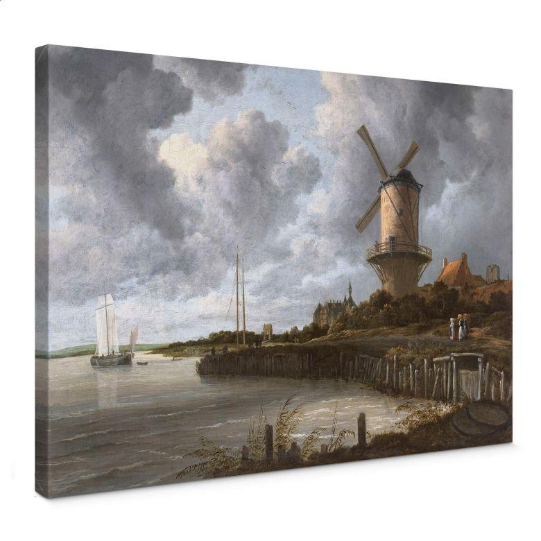 Leinwandbild van Ruisdael - Die Windmühle von Wijk bei Duurstede