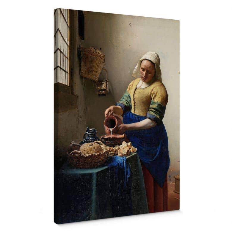 Leinwandbild Vermeer - Das Mädchen mit dem Milchkrug