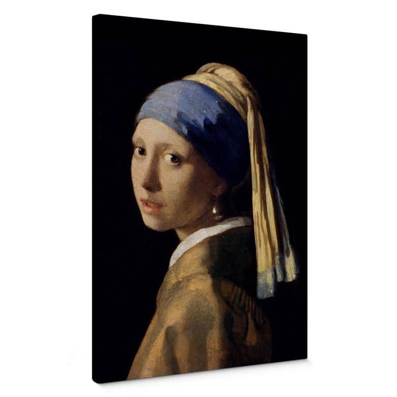 Leinwandbild Vermeer - Das Mädchen mit dem Perlenohrgehänge