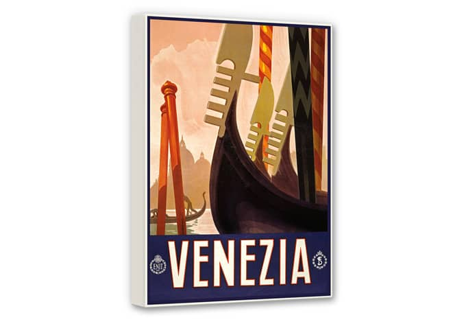 Leinwandbild Vintage Travel - Venezia