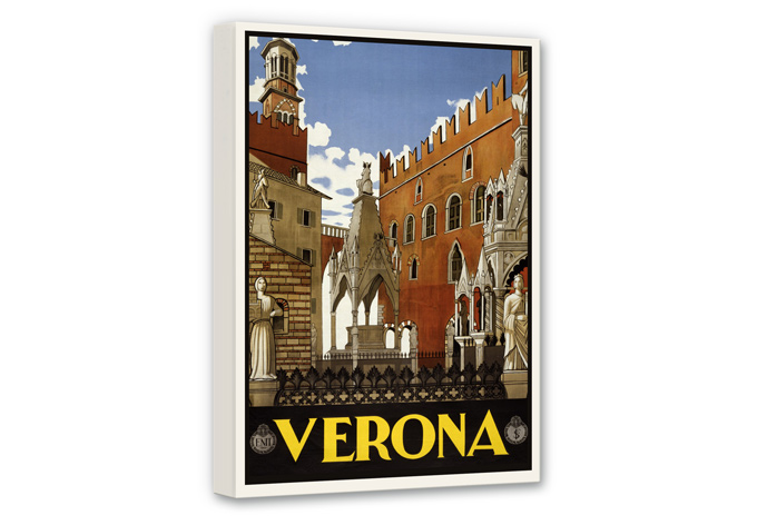Leinwandbild Vintage Travel - Verona