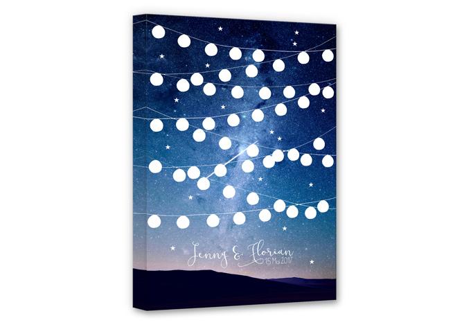 Leinwandbild Stars by Night + Wunschtext