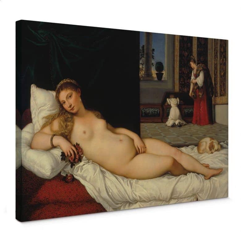 Leinwandbild Tizian - Die Venus von Urbino