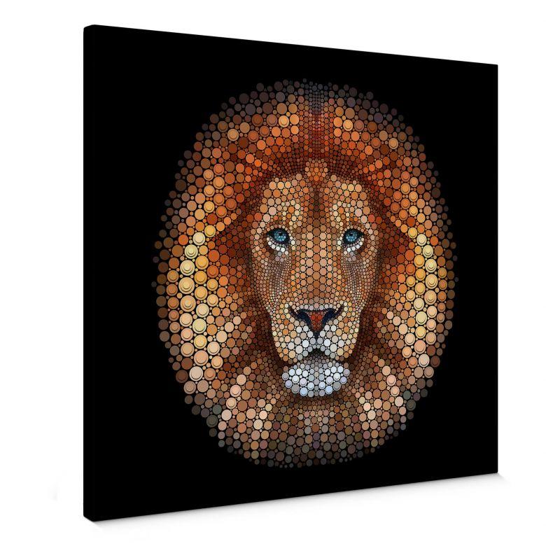 Canvas Ben Heine - Circlism: Leeuw