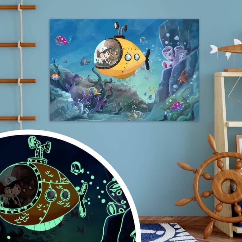 Leuchtposter Unterwasserwelt