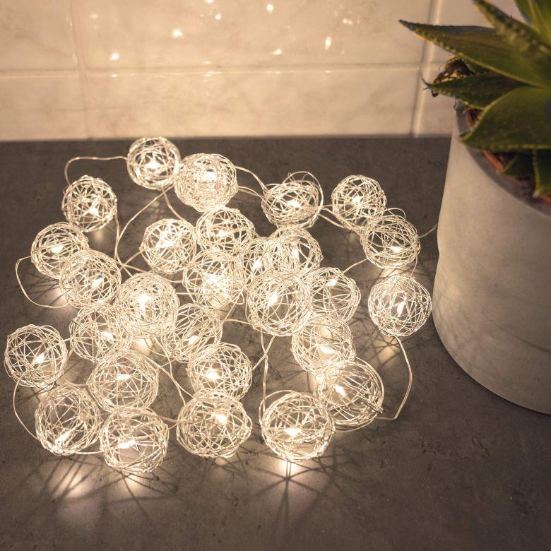 "Luci LED ""Cotton Ball Lights"" Bianco 20pz."