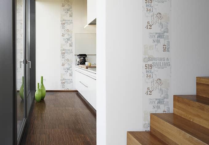 Panneau décoratif Livingwalls pop.up Panel bleu, marron, blanc