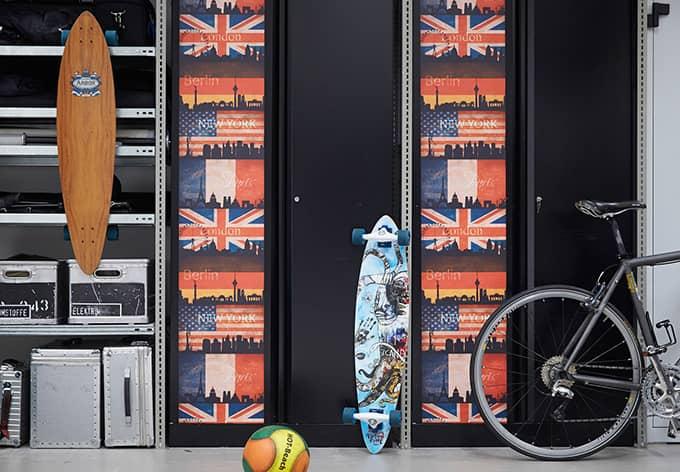 Panneau décoratif Livingwalls pop.up Panel beige, rouge, noir