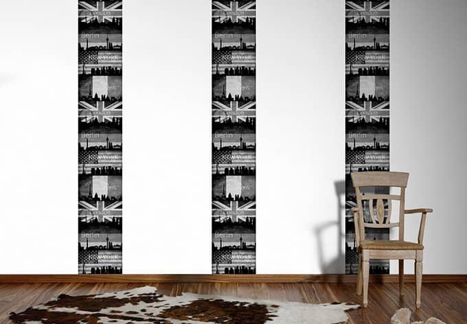 Panneau décoratif Livingwalls pop.up Panel beige, gris, noir