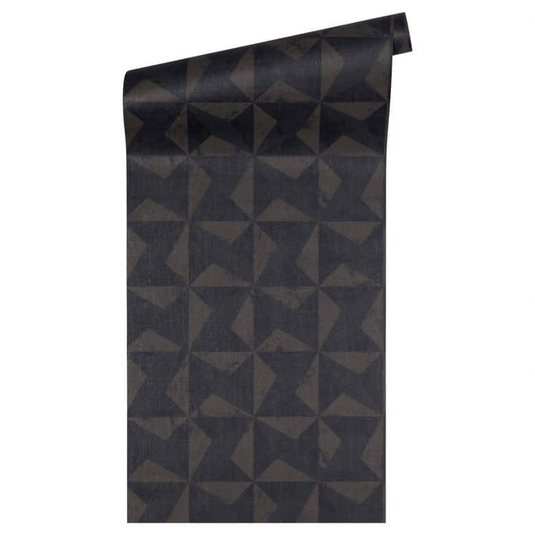 Livingwalls Tapete Titanium 2 braun,schwarz