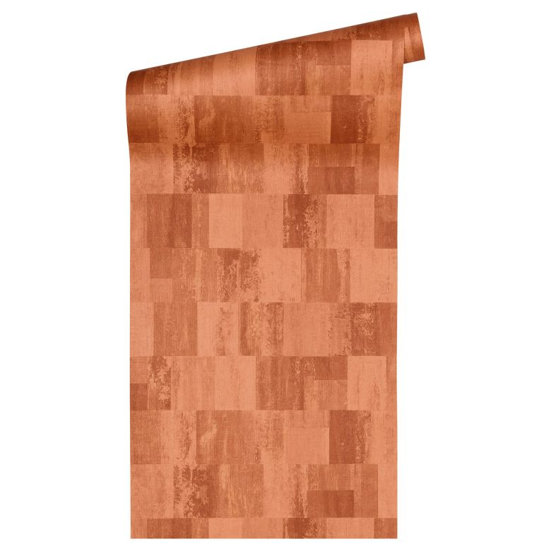 livingwalls tapete titanium 2 metallic orange 360023 wall. Black Bedroom Furniture Sets. Home Design Ideas