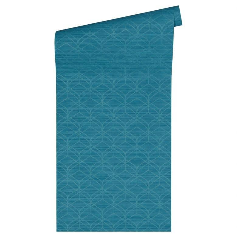 livingwalls tapete titanium 2 blau metallic 360045 wall. Black Bedroom Furniture Sets. Home Design Ideas