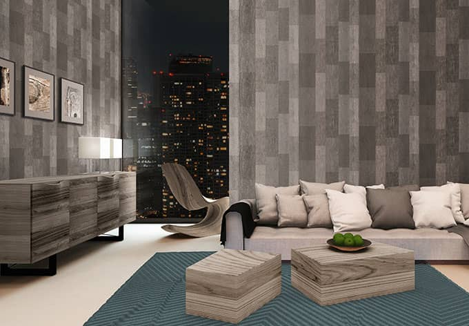 livingwalls tapete titanium 306431 braun metallic wall. Black Bedroom Furniture Sets. Home Design Ideas