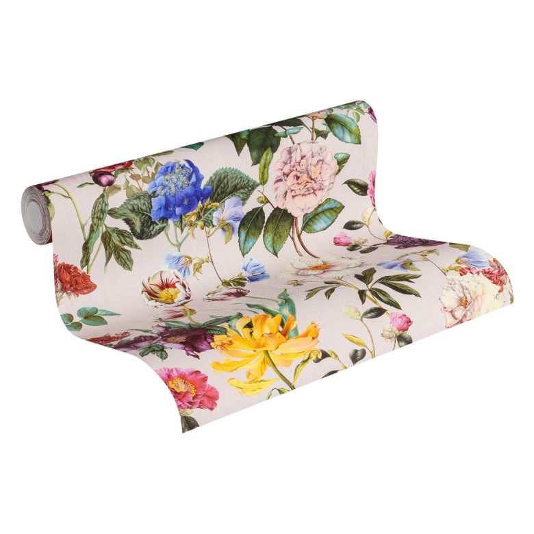 Jette Joop Vliestapete Blumentapete floral bunt, grün, rosa