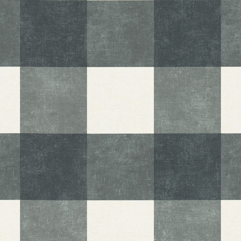 Livingwalls Vliestapete Paradise Garden Tapete kariert schwarz, grau, weiß
