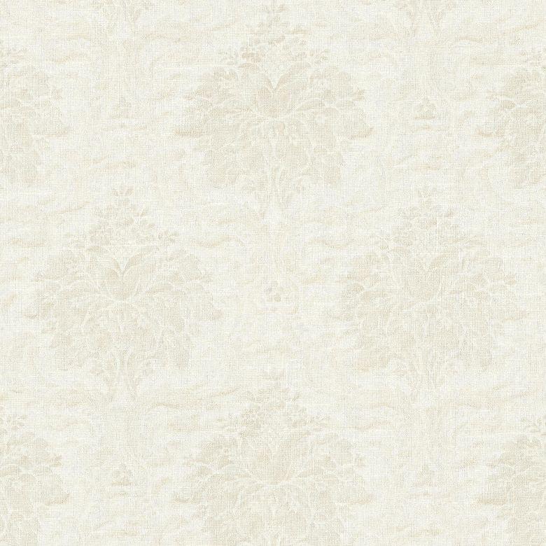 Livingwalls Vliestapete Paradise Garden Tapete mit Ornamenten barock weiß, metallic
