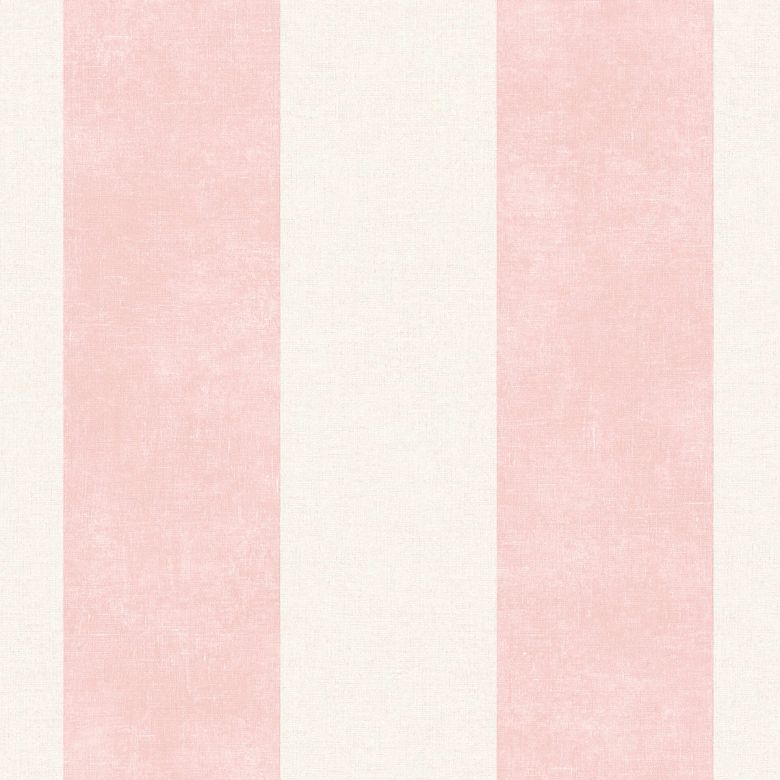 Livingwalls Vliestapete Paradise Garden Tapete mit Blockstreifen rosa, creme