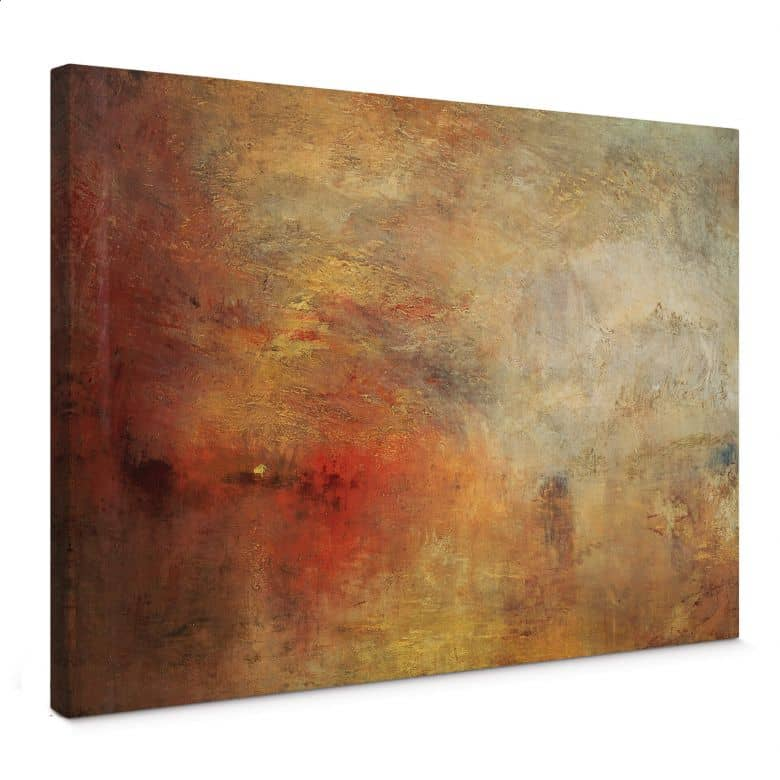 Turner - Sunset above a lake Canvas print