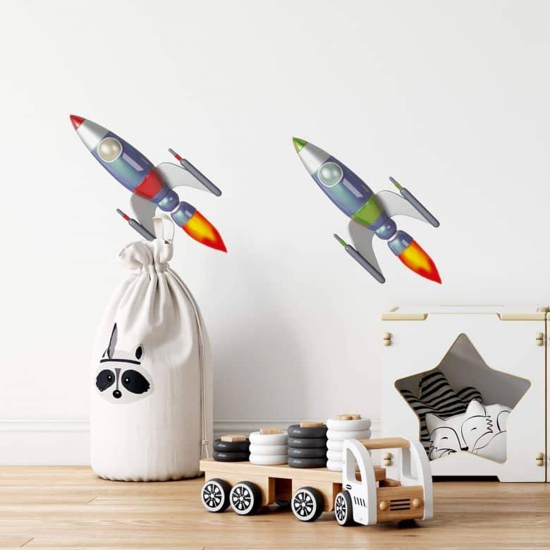 Adesivo murale - Michel Agullo - Due razzi