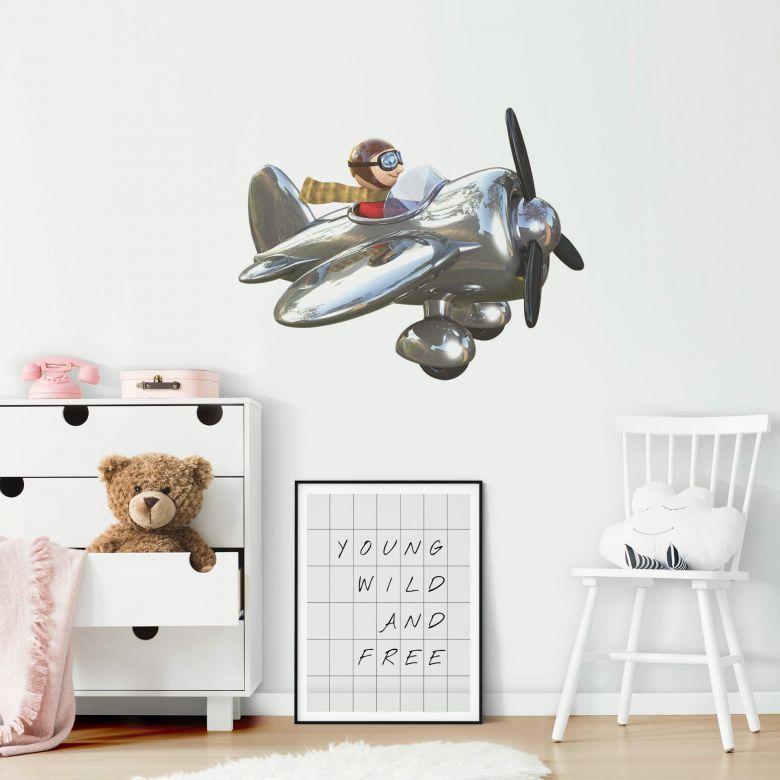 Michel Agullo - Airplane Wall Sticker