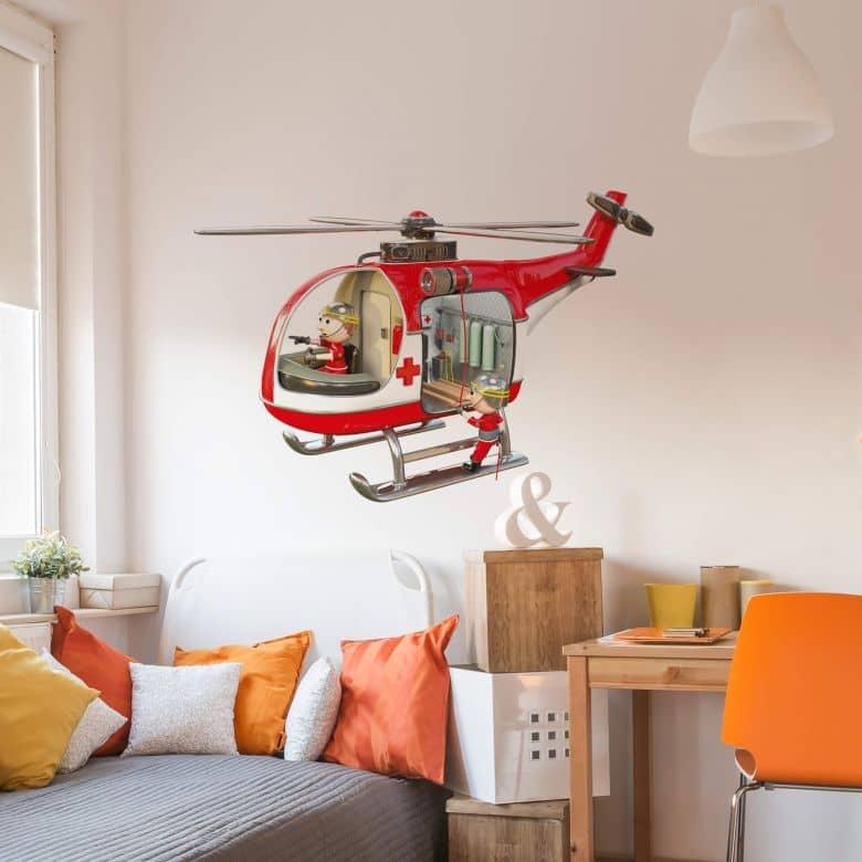 Adesivo murale Michel Agullo - Elicottero di salvataggio