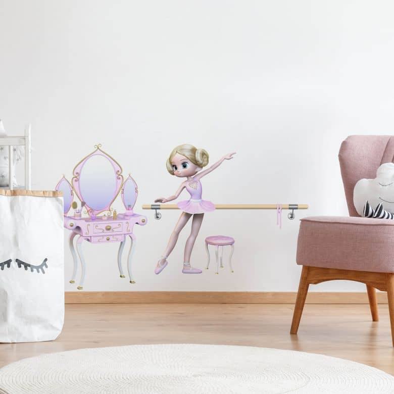 Wandtattoo  Agullo - Ballerina + Schminktisch
