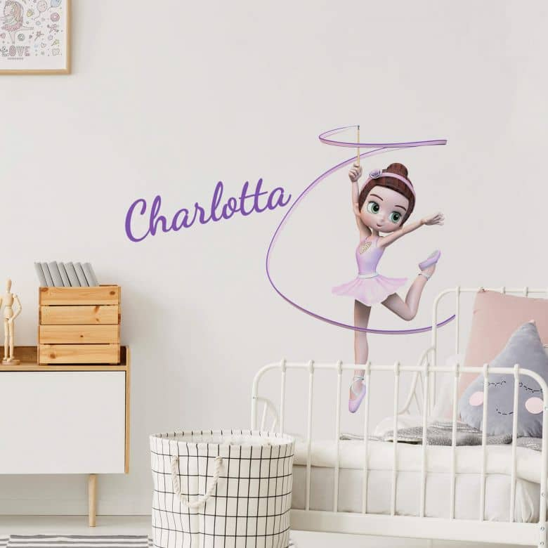 Wall sticker Agullo - Ballerina + Name