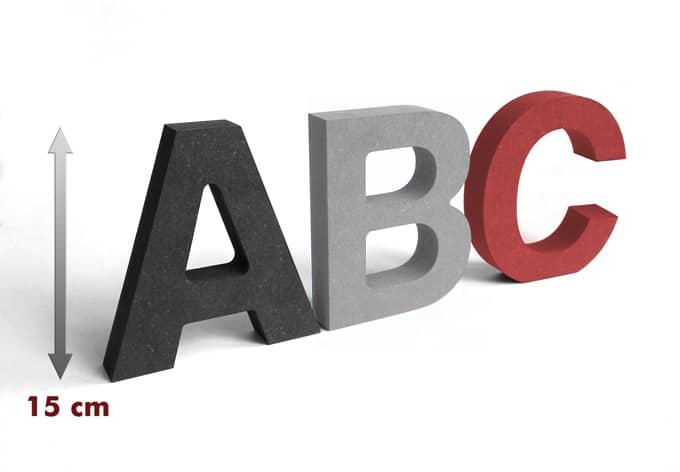 Lettere in legno MDF - Lettere alte 15 cm