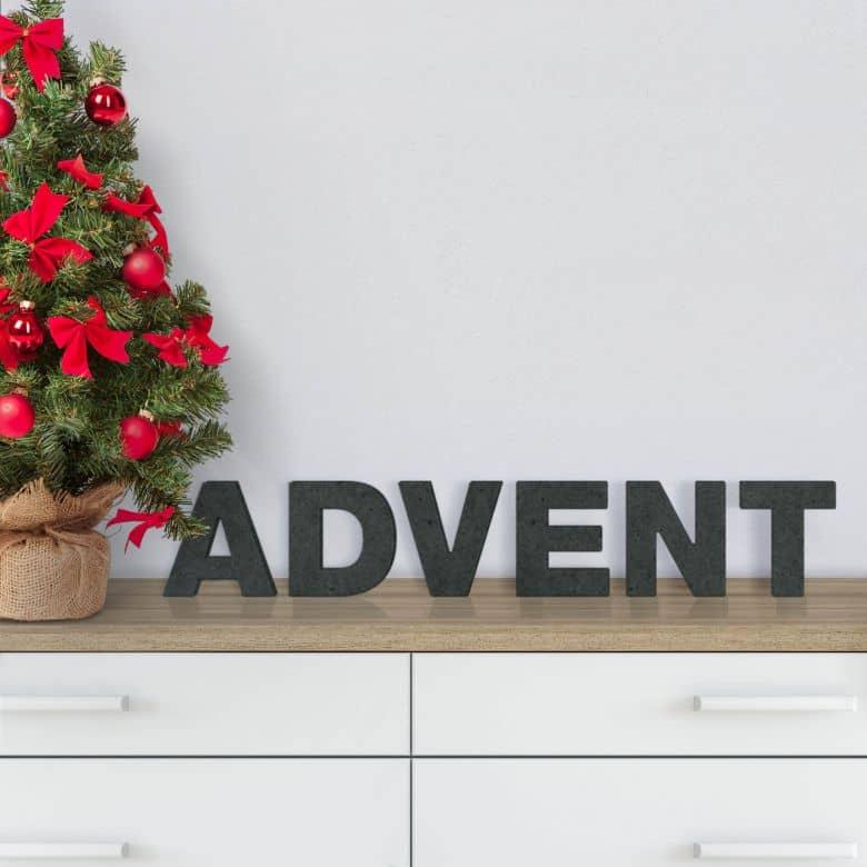 Scritta in MDF - Advent