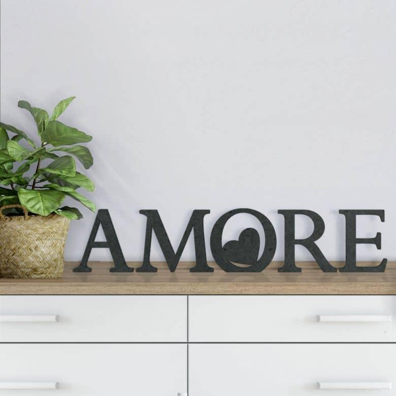 Scritta in MDF - Amore 02