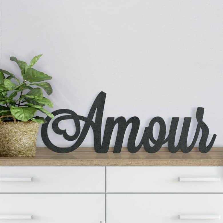 MDF-Holzbuchstaben Amour