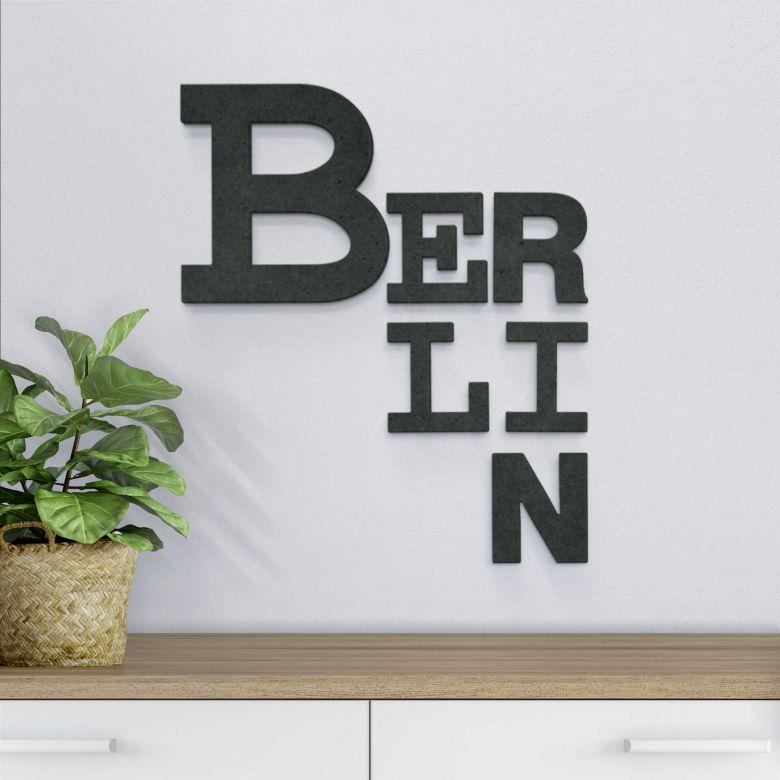 MDF-Holzbuchstaben Berlin mixed