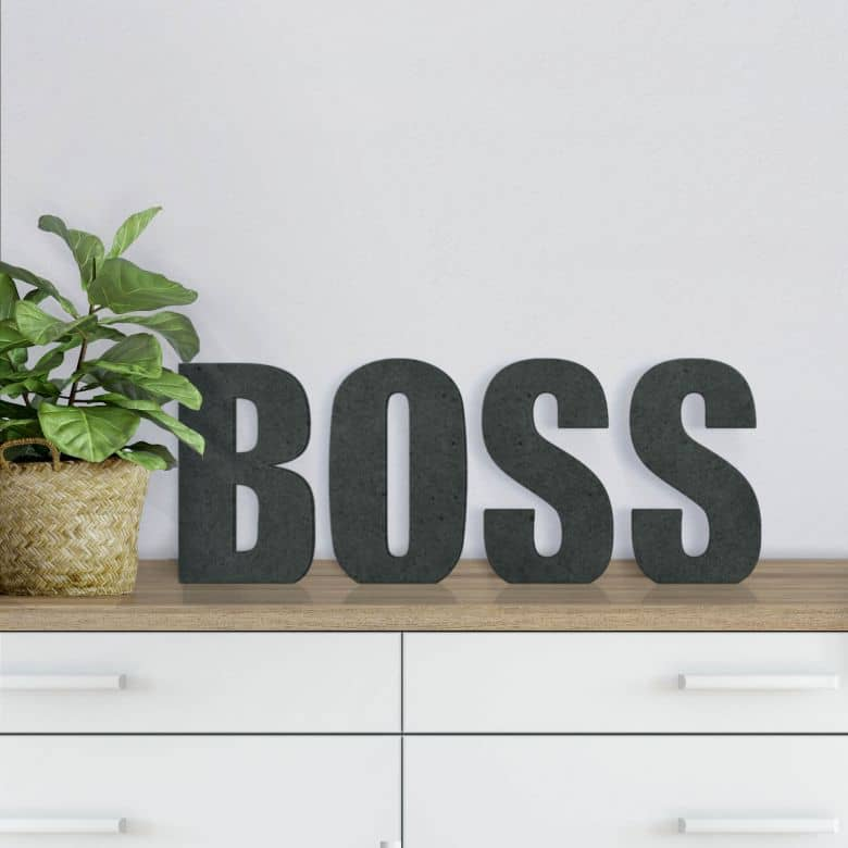 MDF Letters - Boss