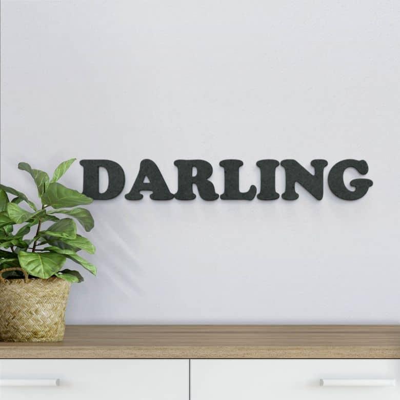 MDF-Holzbuchstaben Darling
