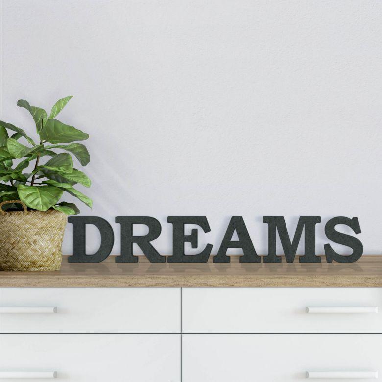 MDF-Holzbuchstaben Dreams 1