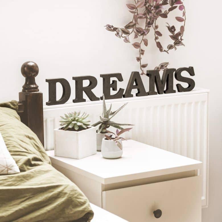 Lettere in legno MDF Dreams 1